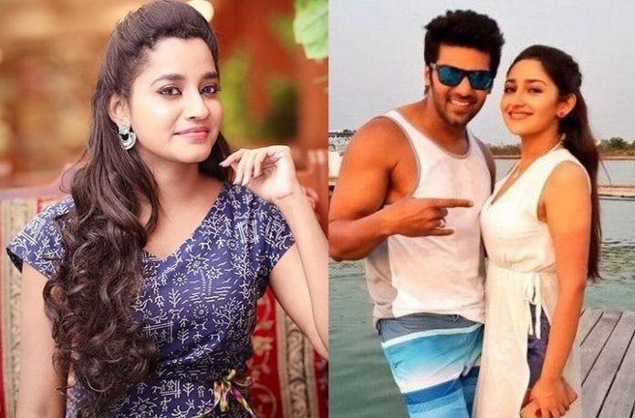 Abarnathi wishing arya and Sayeesha for wedding