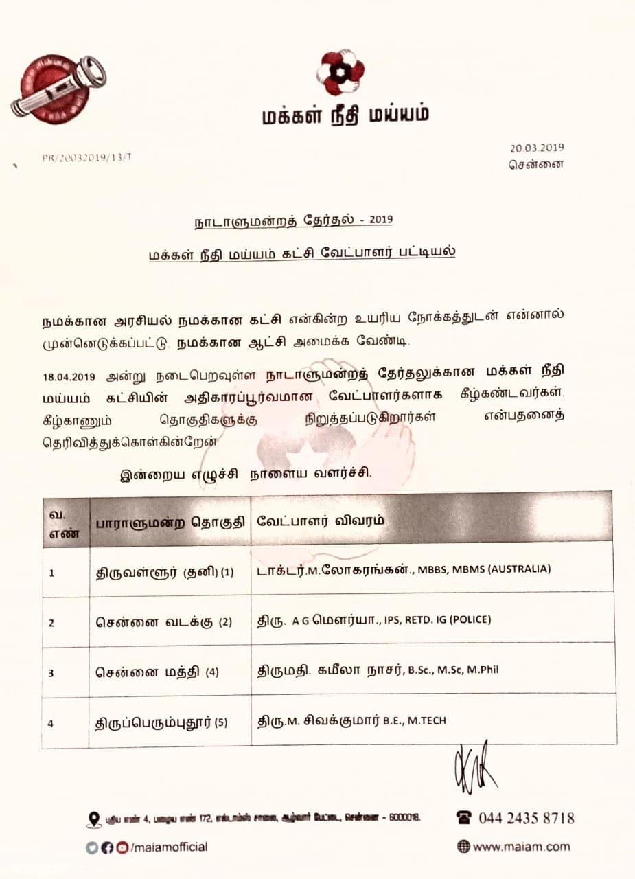 MNM Candidates List 2019 - tamilnaduflashnewscom 01