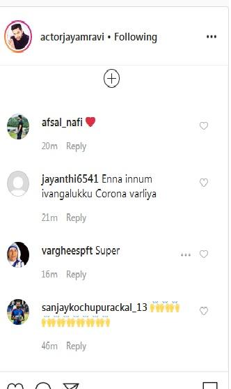 JAYAM RAVI comment page