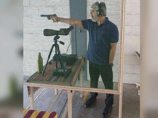 ajith gun shoot