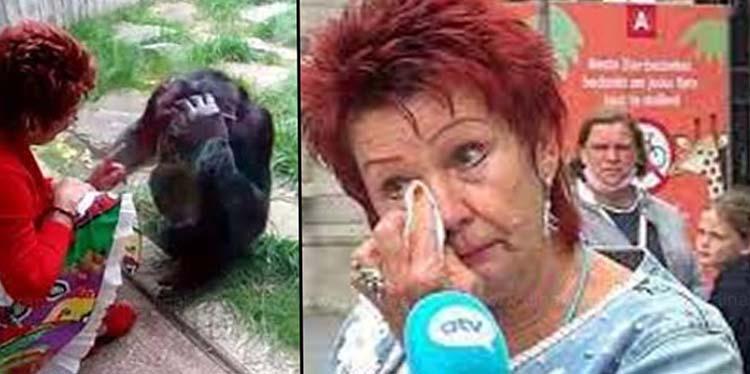 man monkey and lady